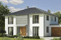 Einfamilienhaus weiß grau